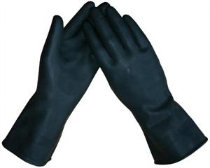 """Latex """"dikke"""" huishoud- / Industriehandschoenen Zwart"""