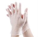 Vinyl handschoen Wit, Licht gepoederd