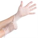 Vinyl handschoen wit ongepoederd lange mouw
