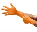 Nitril handschoenen ongepoederd oranje