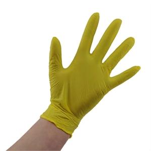 Nitril handschoenen ongepoederd geel